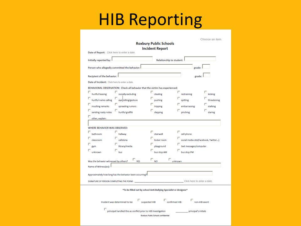 HIB Reporting