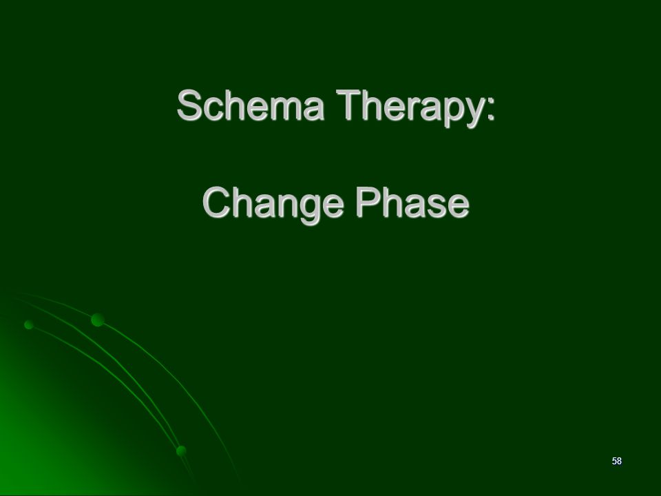 Schema Therapy: Change Phase 58