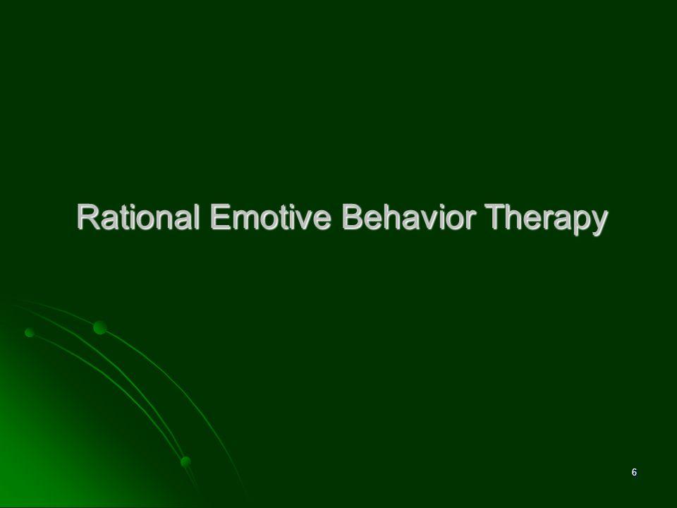 Rational Emotive Behavior Therapy 6