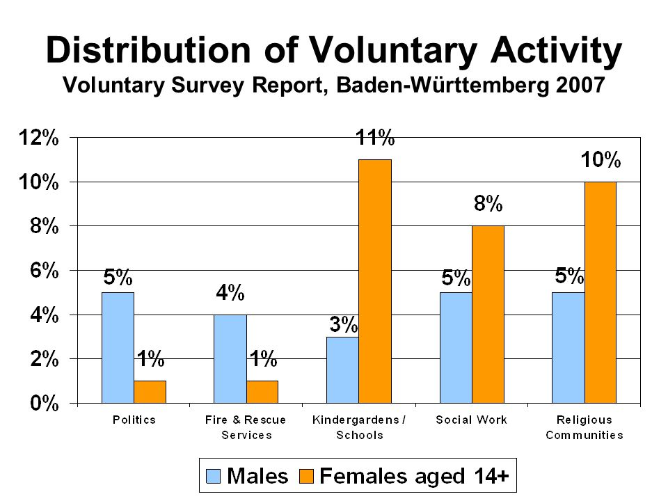 Distribution of Voluntary Activity Voluntary Survey Report, Baden-Württemberg 2007