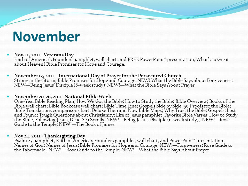 November Nov. 11, 2011 - Veterans Day Faith of America's Founders pamphlet, wall chart, and FREE PowerPoint® presentation; Whats so Great about Heaven