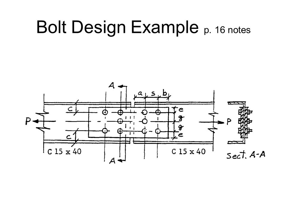 Bolt Design Example p. 16 notes