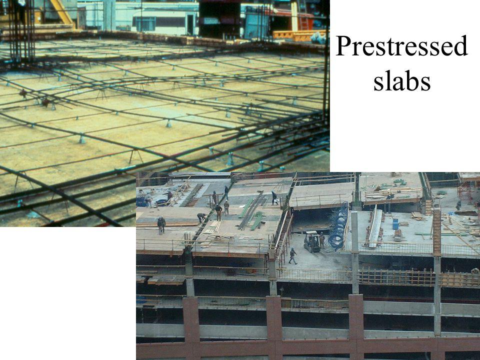 Prestressed slabs