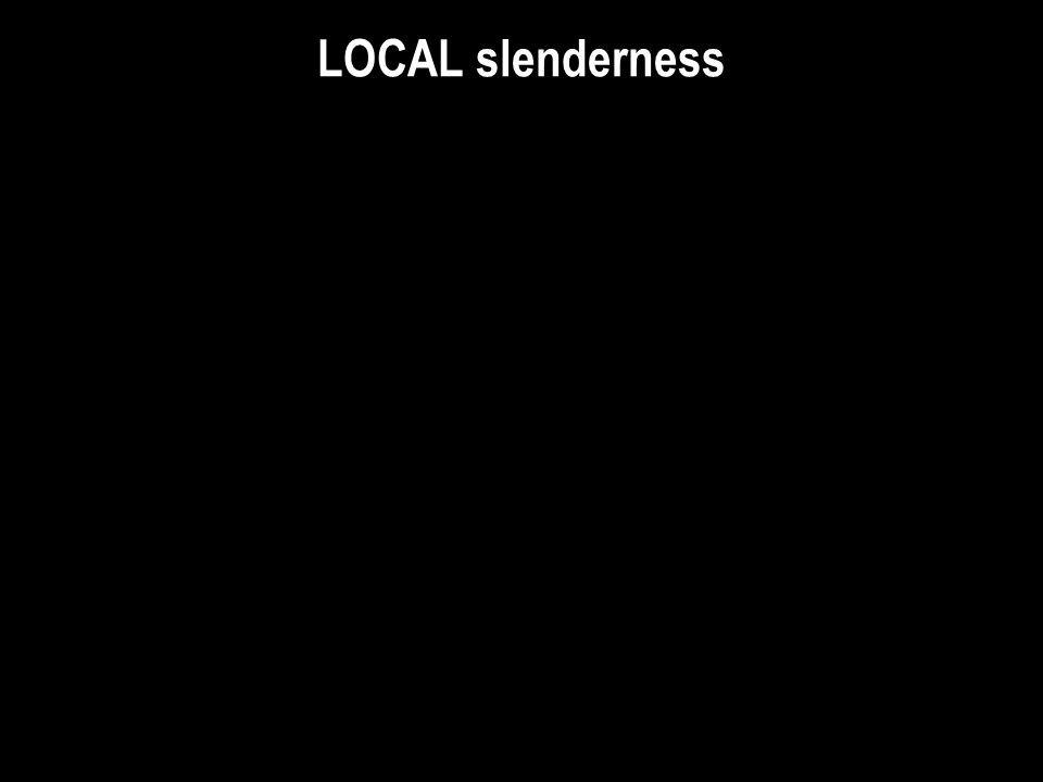 LOCAL slenderness W14FI: W14x233 with variable Flange thickness, varies Independently from all other dimensions W14FR: W14x233 with variable Flange th