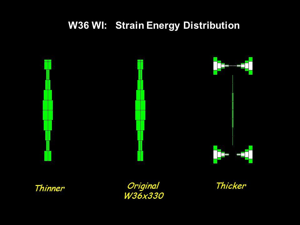 W36 WI: Strain Energy Distribution Thinner Original W36x330 Thicker
