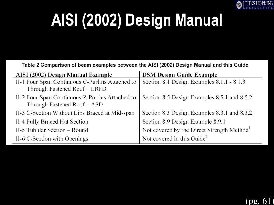 AISI (2002) Design Manual (pg. 61)