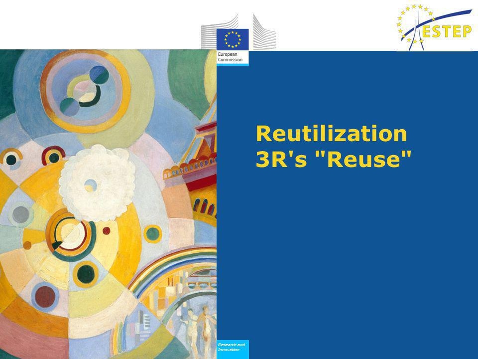 Research and Innovation Research and Innovation Reutilization 3R s Reuse