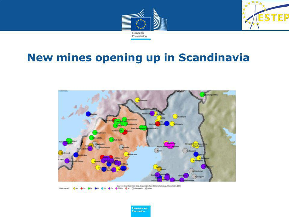 Policy Research and Innovation Research and Innovation New mines opening up in Scandinavia