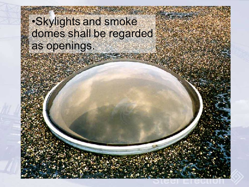 Skylights and smoke domes shall be regarded as openings.