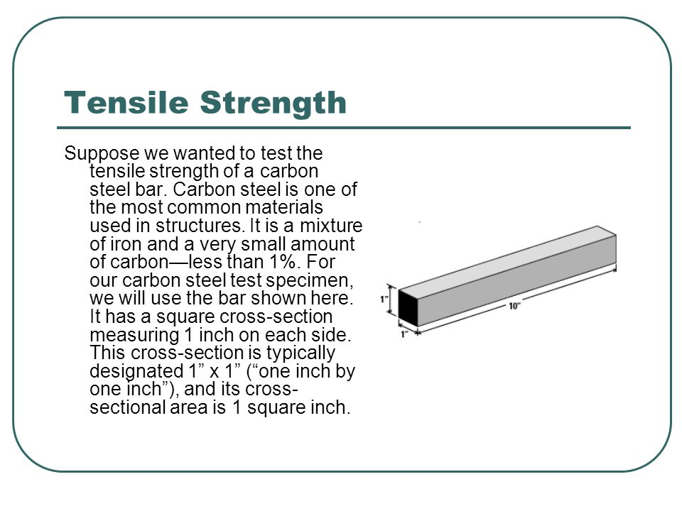 Tensile Strength Steel is quite strong.