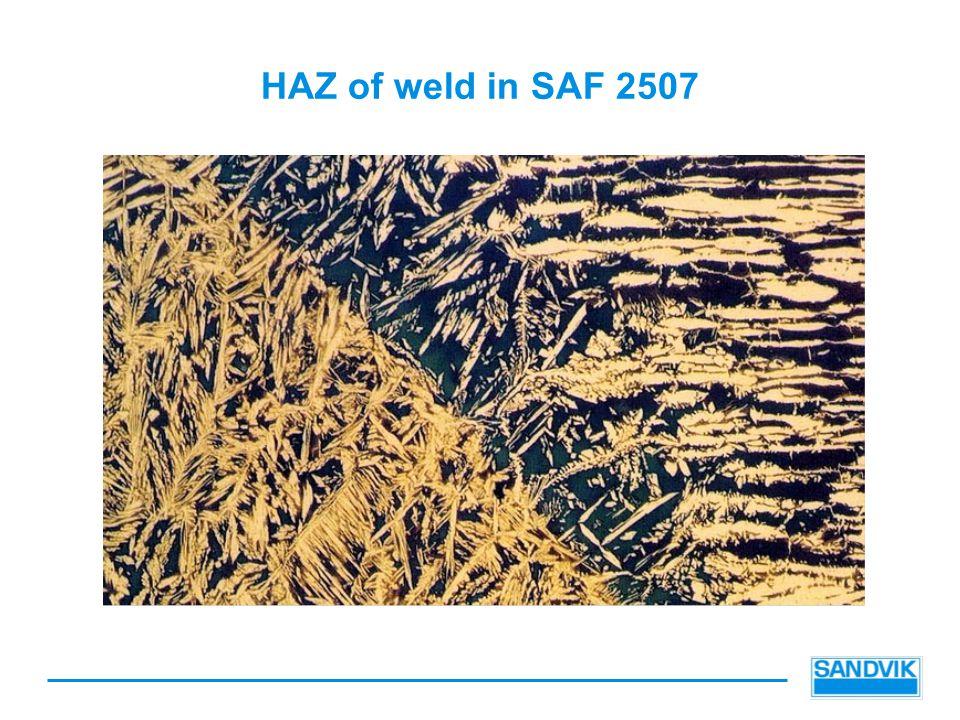 HAZ of weld in SAF 2507