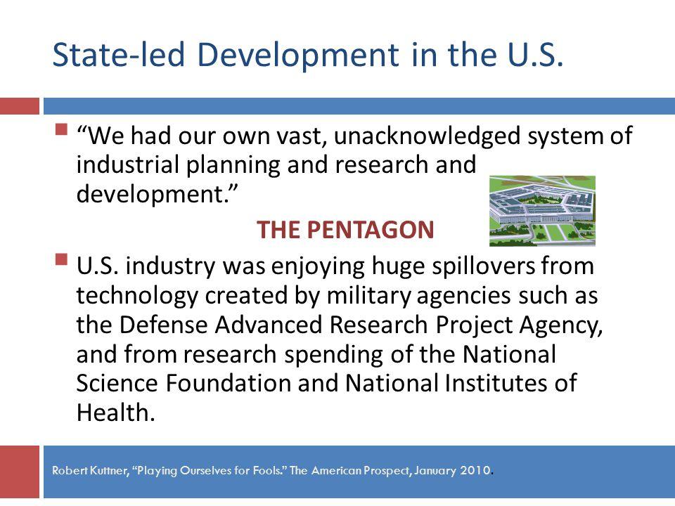 State-led Development in the U.S.