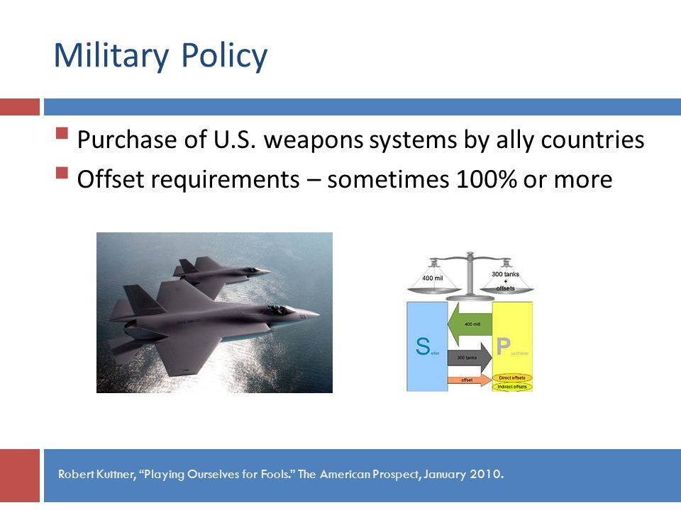 Military Policy Purchase of U.S.