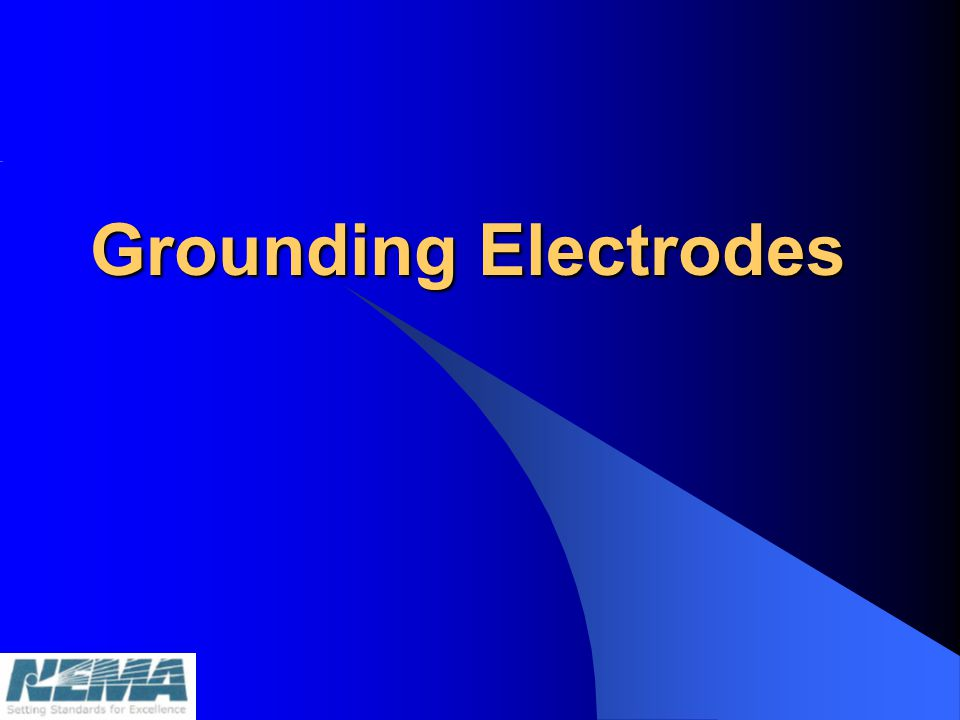 Definition of a Grounding Electrode Article 100 – Grounding Electrode: A conducting object through which a direct connection to earth is established.