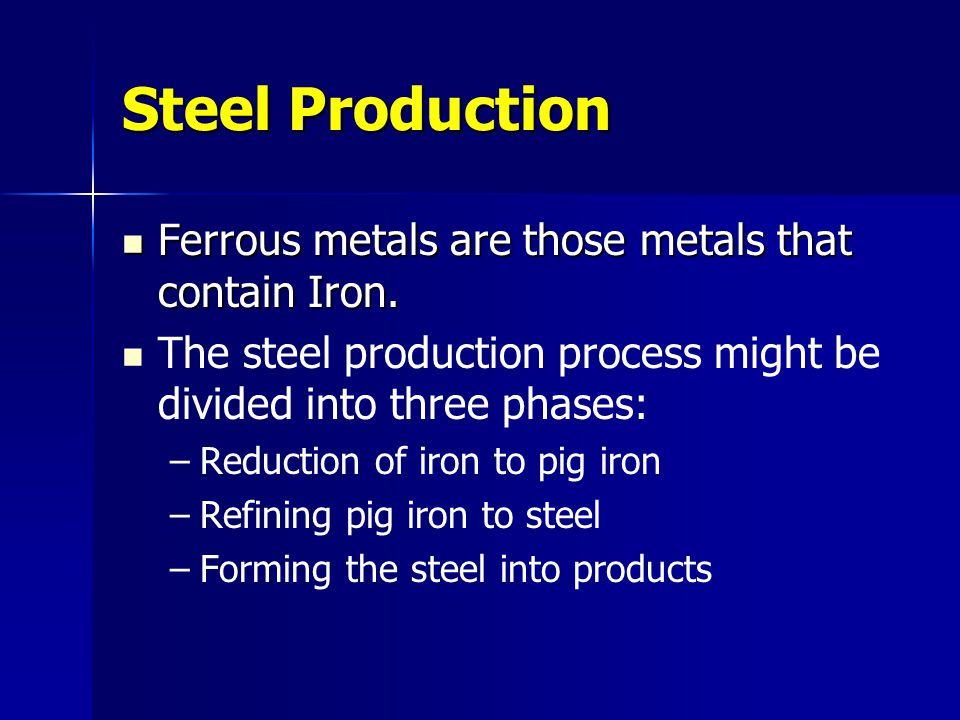 Iron Iron is extracted from iron ores such as Hematite (Fe 2 O 3 ) and Magnetite (Fe 3 O 4 ) Iron is extracted from iron ores such as Hematite (Fe 2 O 3 ) and Magnetite (Fe 3 O 4 ) The iron ores contain 25% to 70% metallic iron.