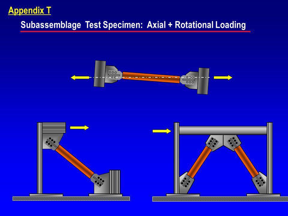 Appendix T Subassemblage Test Specimen: Axial + Rotational Loading