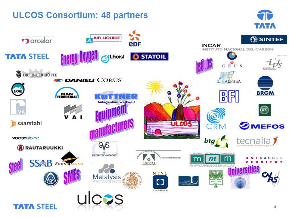 6 ULCOS Consortium: 48 partners