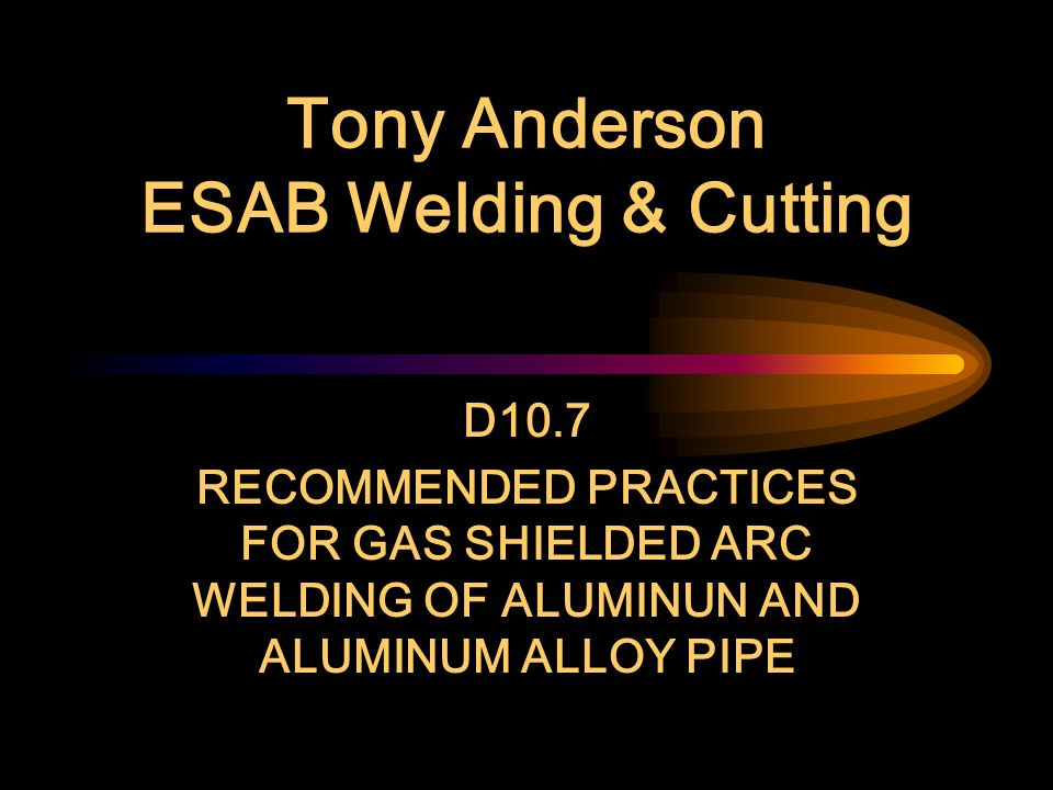 Other References AWS G2.4 to be published this year Addresses CP and Ti alloys, such as Ti-6Al-4V Helpful guide in base metal selection Other welding