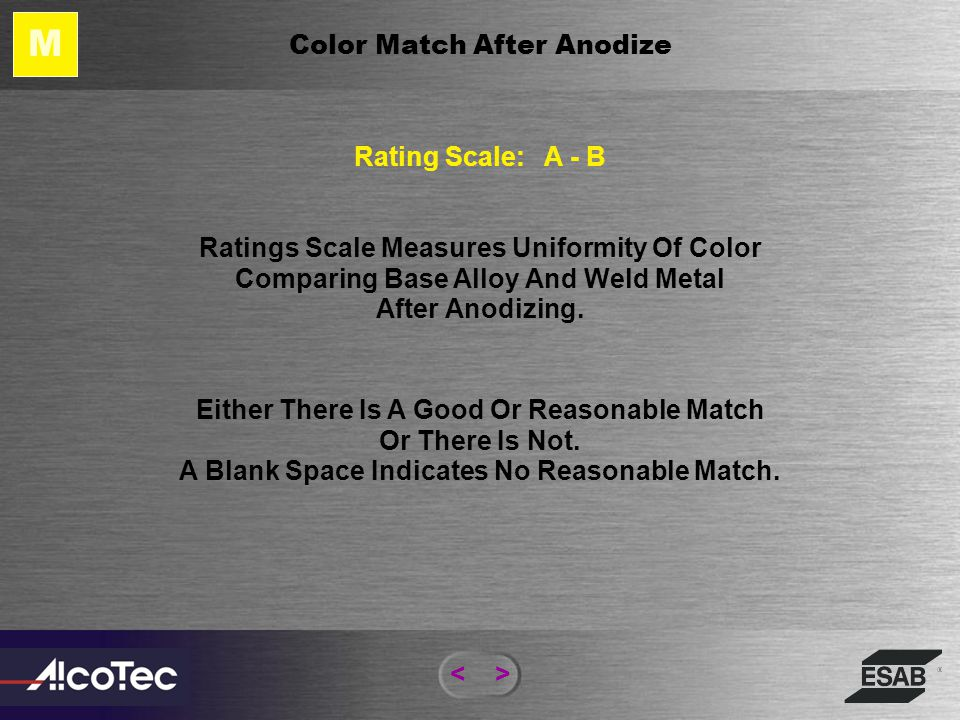 <> Corrosion Facts – As Welded Alloy 7075-T6 Welded With 5356 Filler -849mv-876mv-900mv-810mv Post Weld Heat Treated and Aged -810mv -840mv-806mv Note