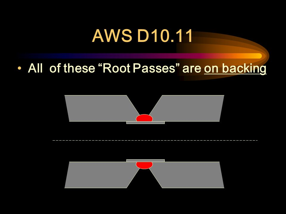 AWS D10.11 Root pass on a Double Vee-Groove Weld