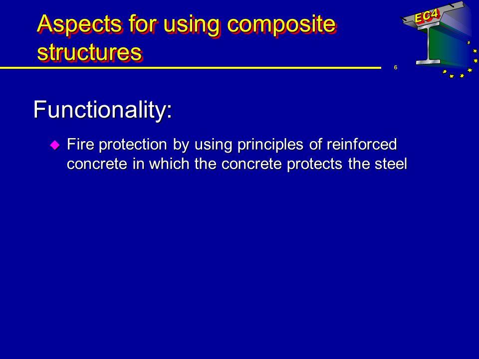 17 Construction elements Columns u Examples of composite columns