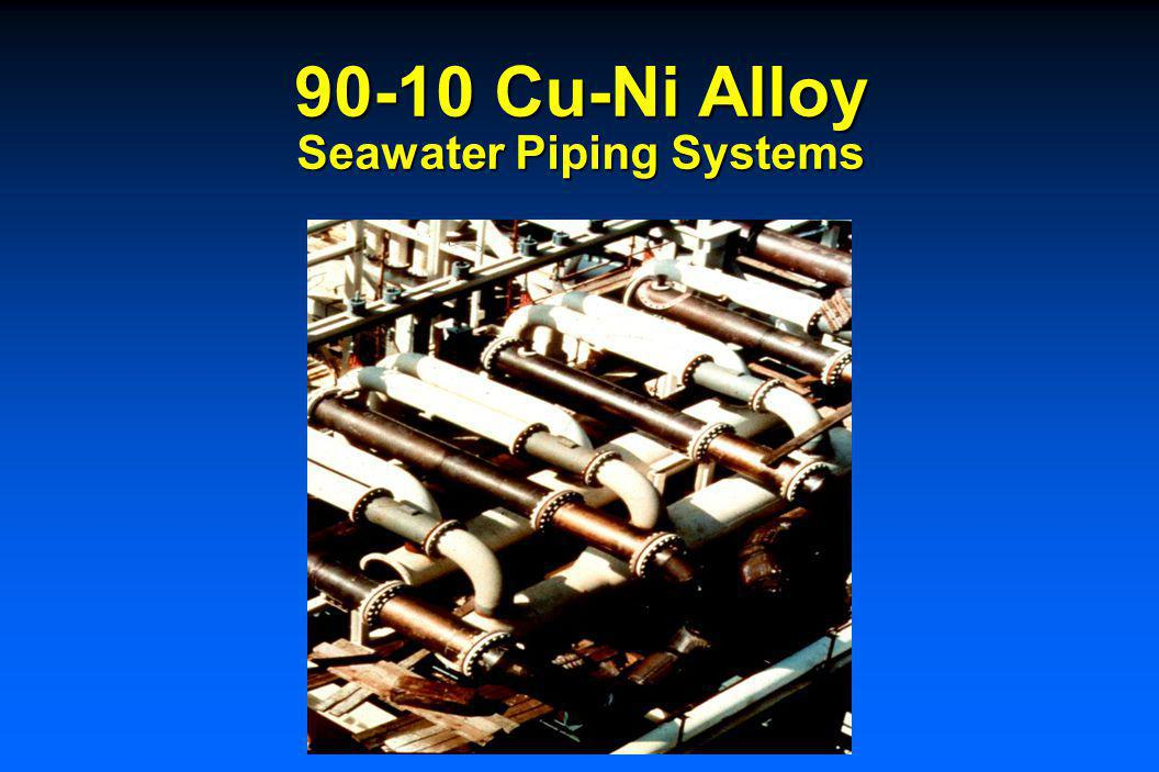90-10 Cu-Ni Intake Piping Desalination Plants