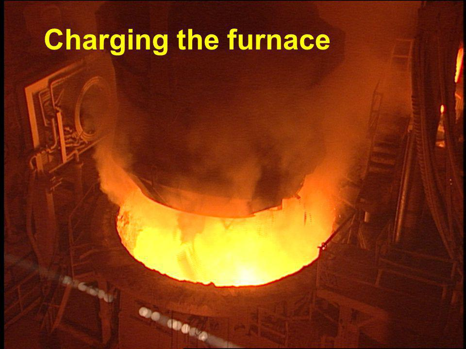 Charging the furnace