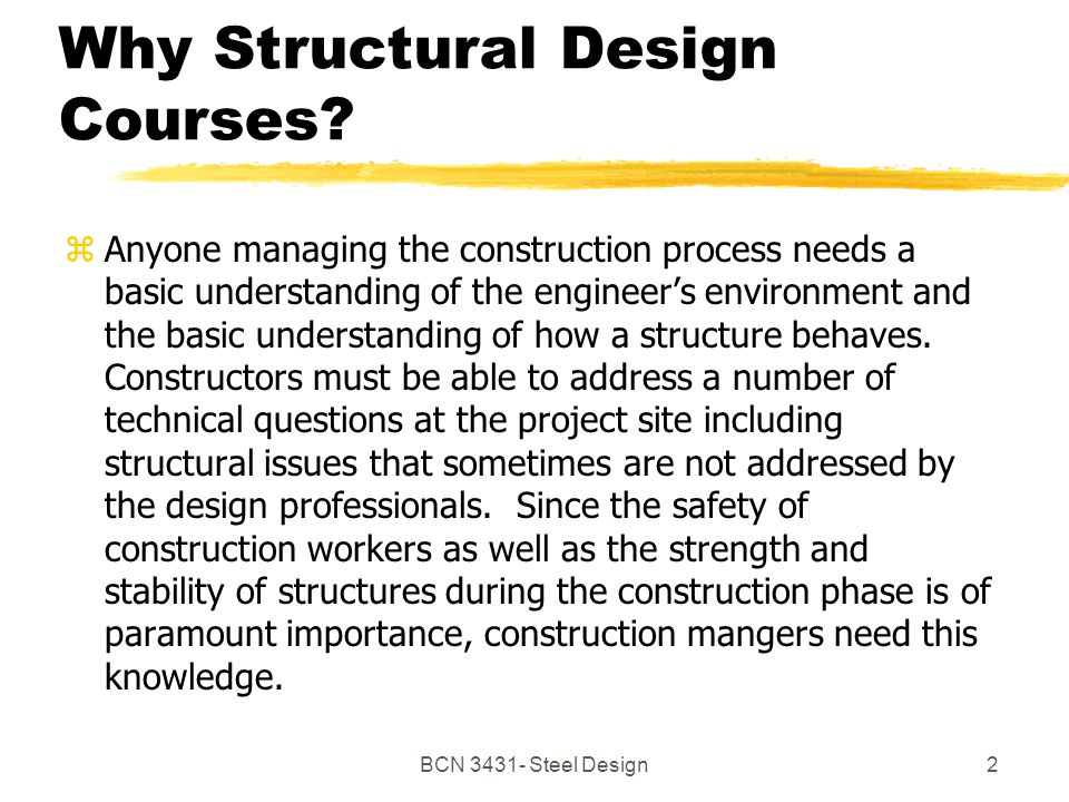 BCN Steel Design2 Why Structural Design Courses.
