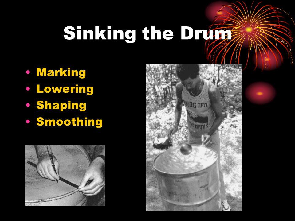 Sinking the Drum Marking Lowering Shaping Smoothing