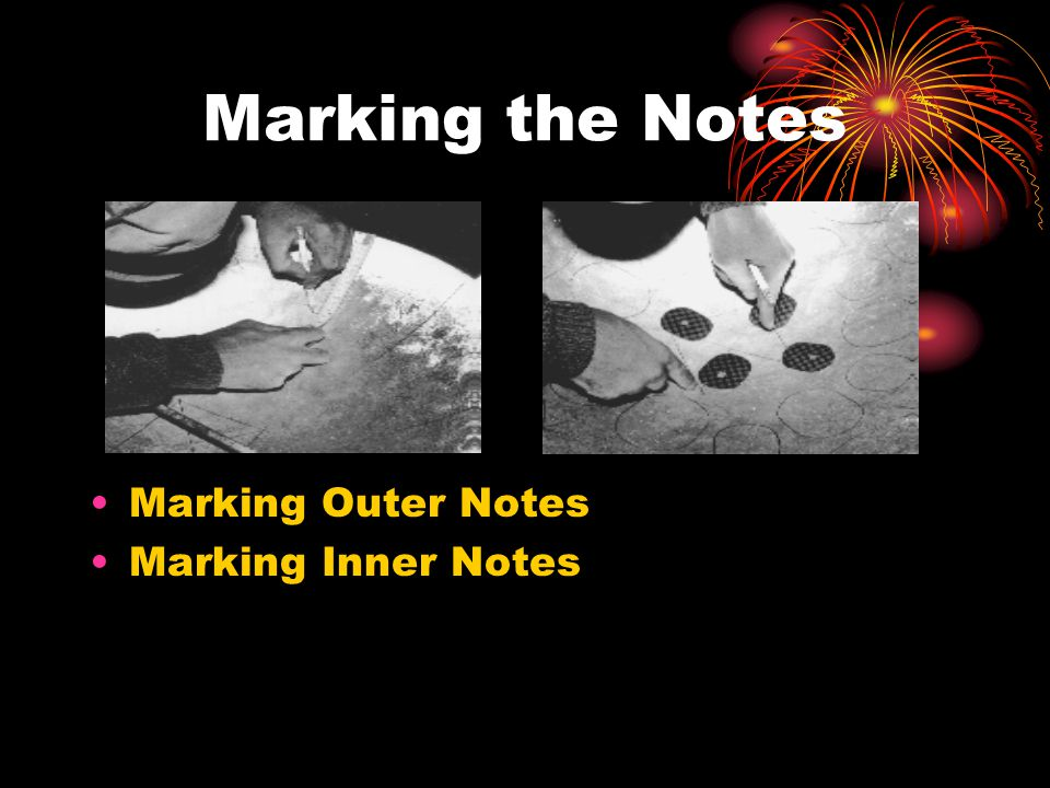 Marking the Notes Marking Outer Notes Marking Inner Notes
