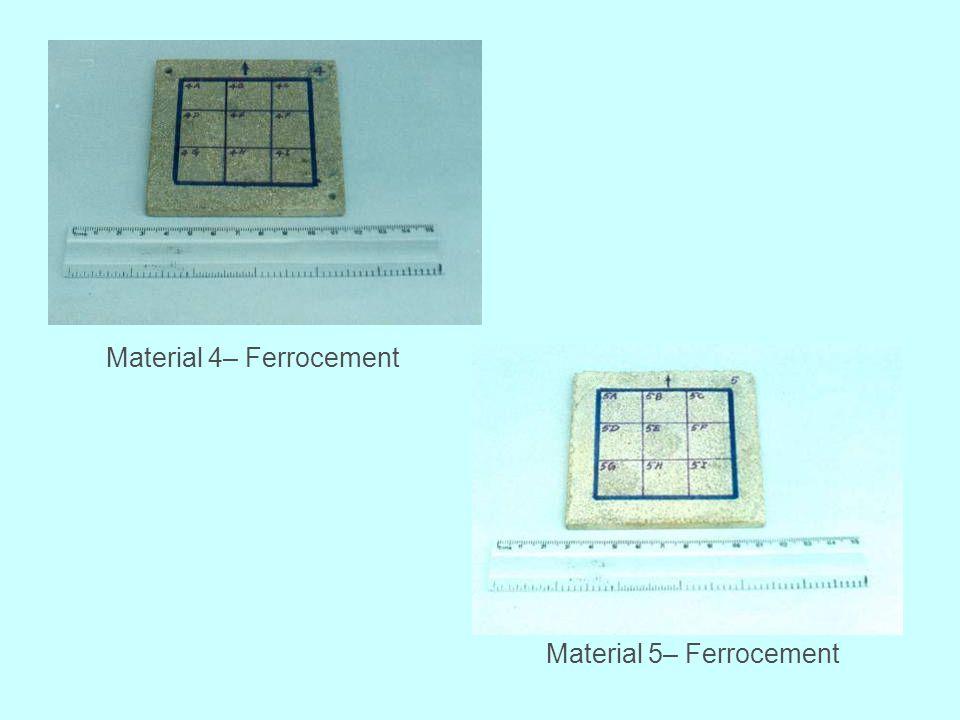Material 4– Ferrocement Material 5– Ferrocement