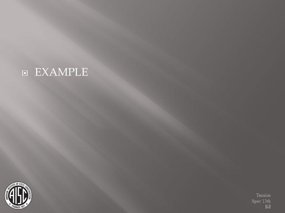 EXAMPLE Tension Spec 13th Ed17
