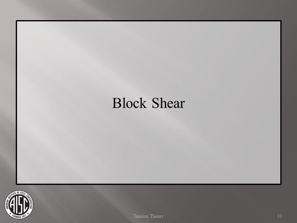 Block Shear 33Tension Theory