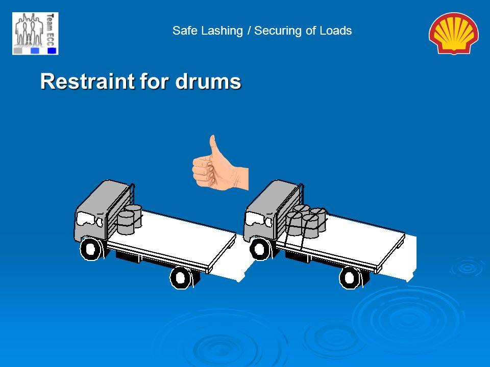 Safe Lashing / Securing of Loads Restraint for drums Restraint for drums