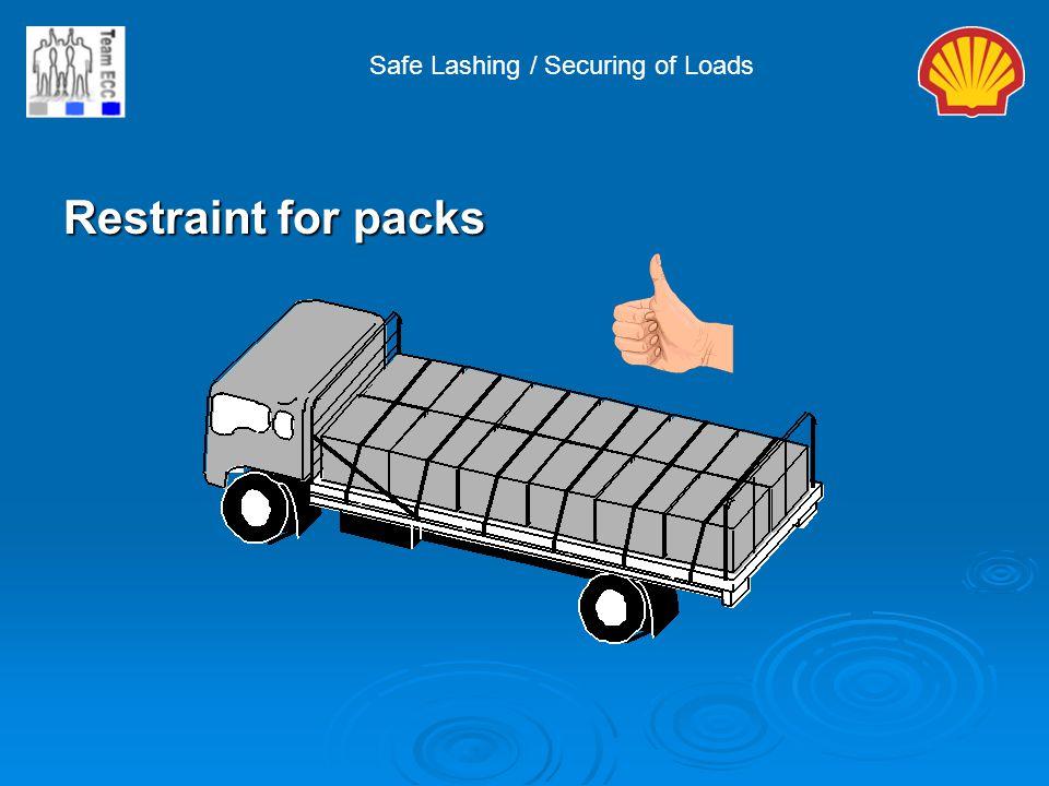 Safe Lashing / Securing of Loads Restraint for packs