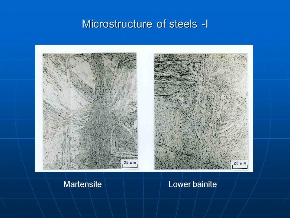 Microstructure of steels -I MartensiteLower bainite