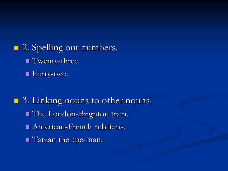 2. Spelling out numbers. 2. Spelling out numbers.