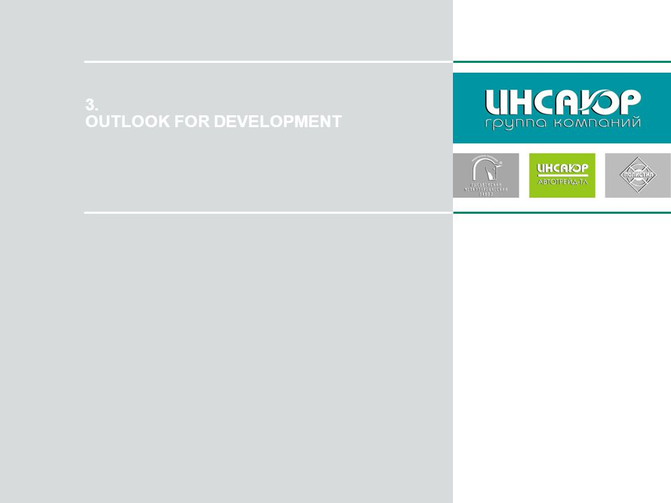 3. OUTLOOK FOR DEVELOPMENT