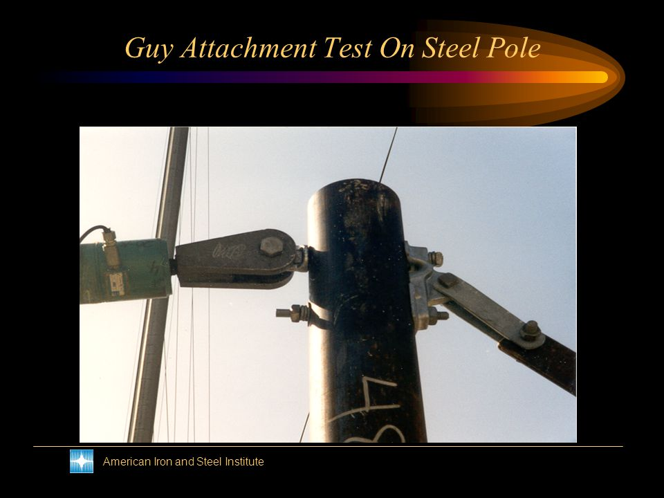 American Iron and Steel Institute Post Insulator Test On Steel Pole