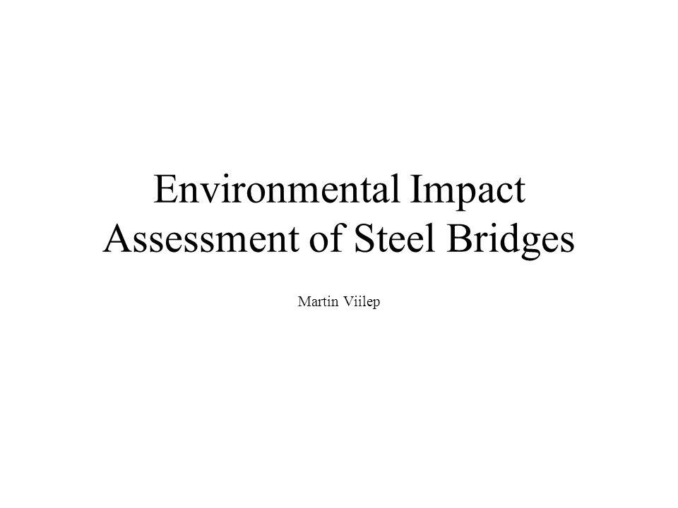 Environmental Impact Assessment of Steel Bridges Martin Viilep