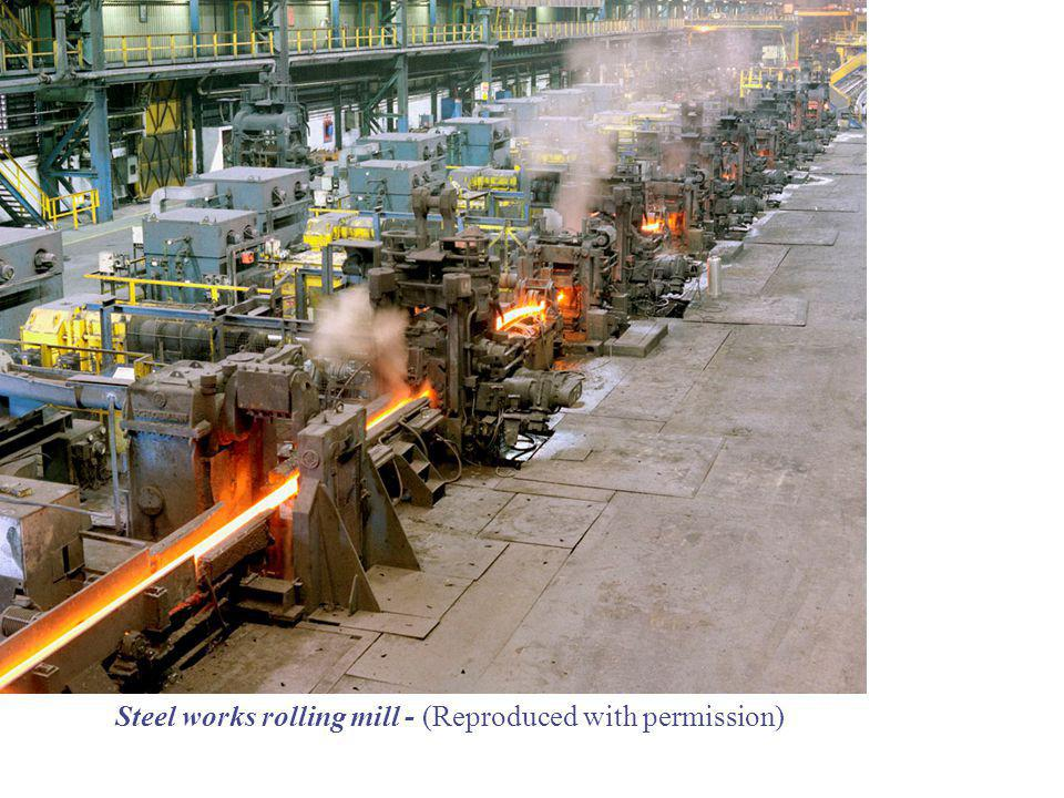 Steel works rolling mill - (Reproduced with permission)