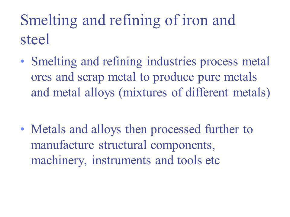 Foundries Two main categories foundries Ferrous (iron and steel) foundries Non-ferrous foundries (e.g.