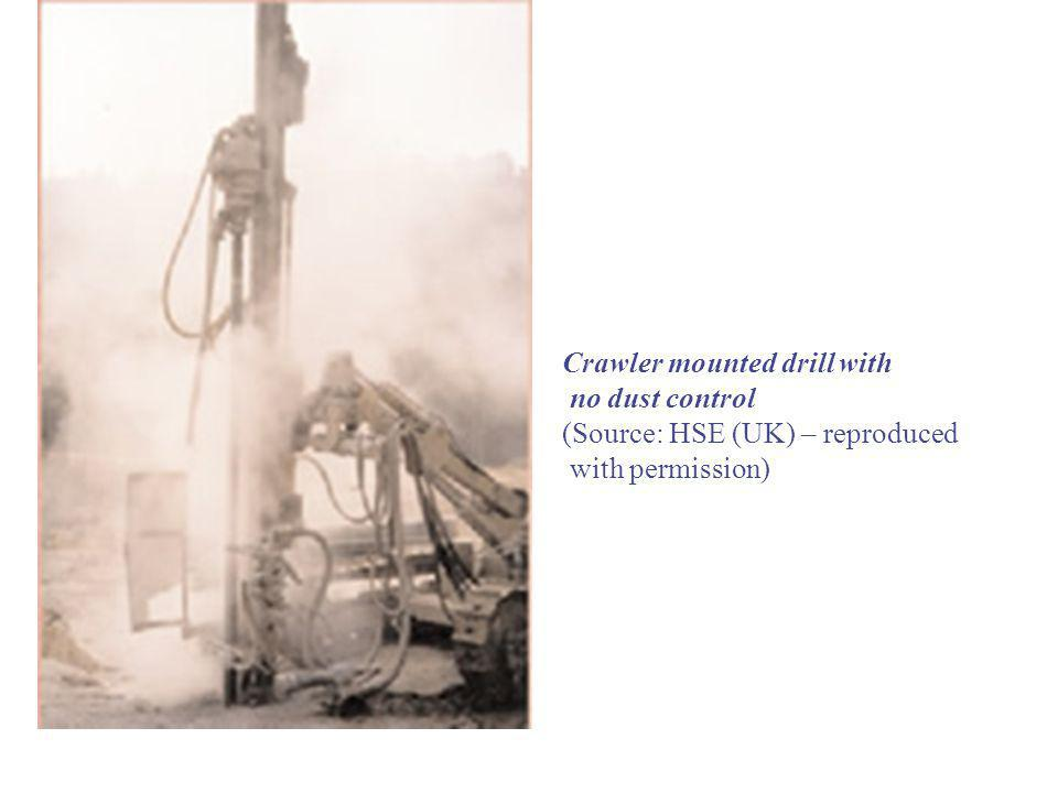 Crawler mounted drill with no dust control (Source: HSE (UK) – reproduced with permission)