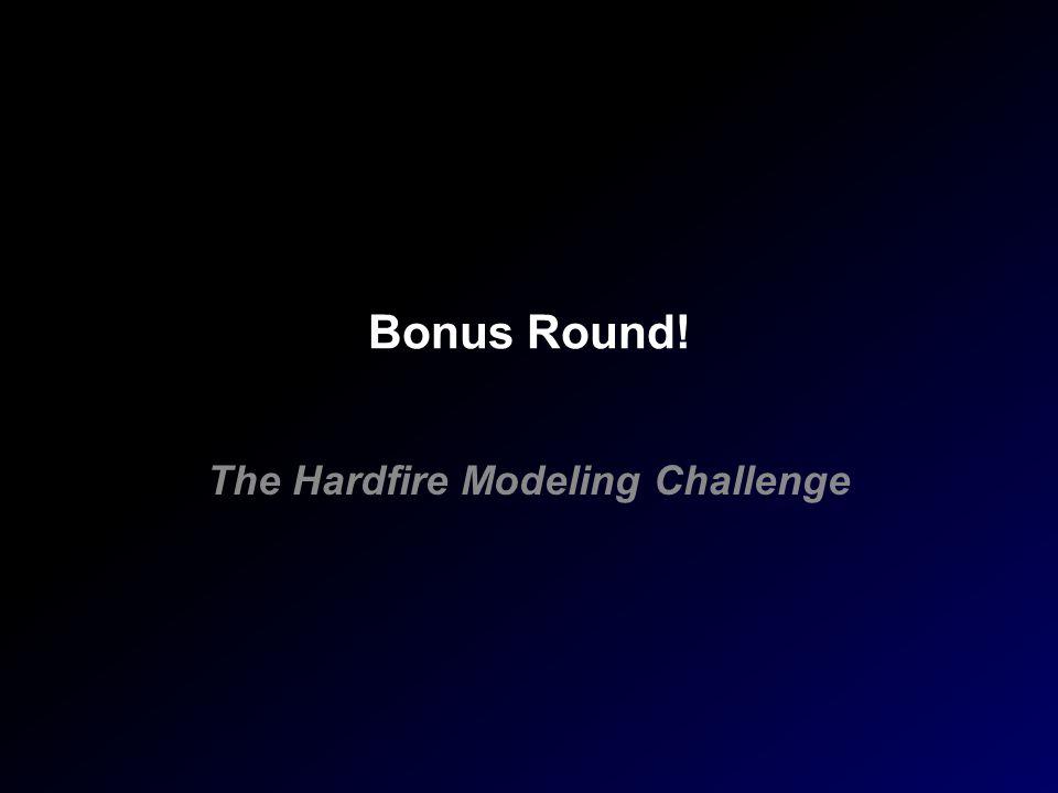 Bonus Round! The Hardfire Modeling Challenge