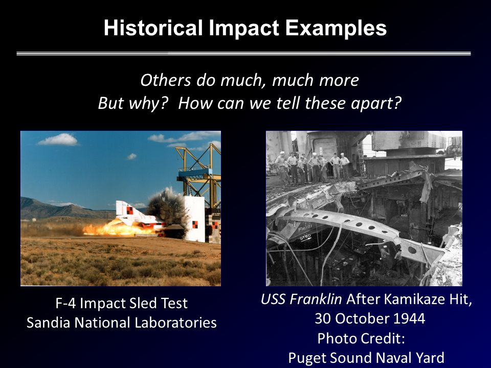 Historical Impact Examples Others do much, much more But why.