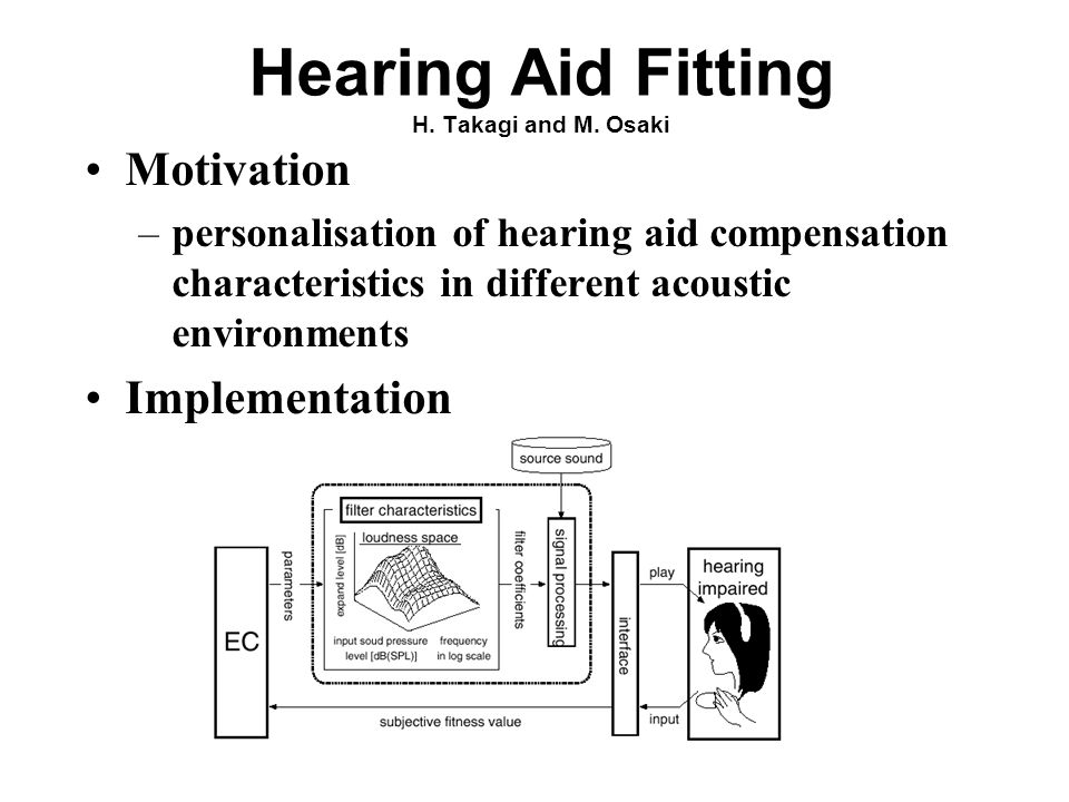Hearing Aid Fitting H. Takagi and M.