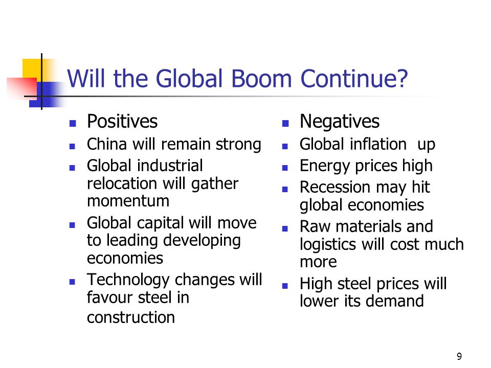 9 Will the Global Boom Continue.