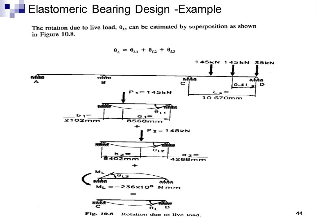 44 Elastomeric Bearing Design -Example