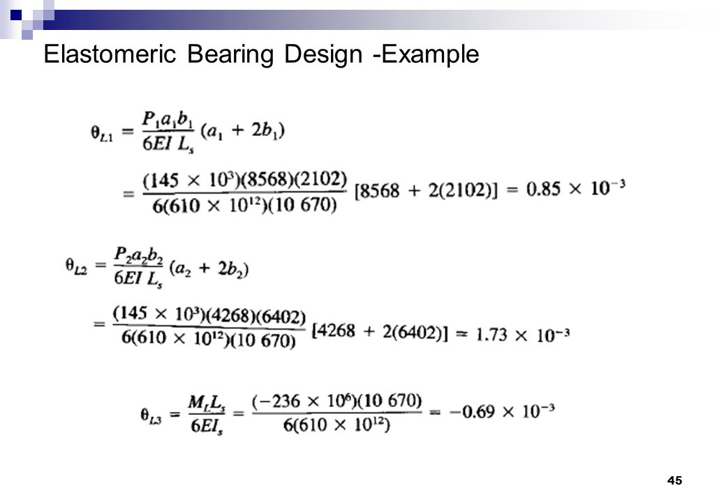 45 Elastomeric Bearing Design -Example
