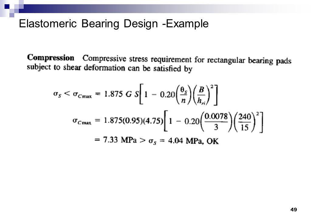 49 Elastomeric Bearing Design -Example